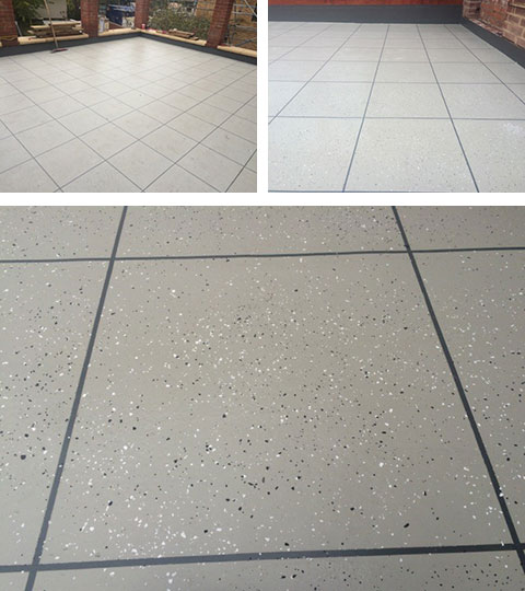 Full PMMA Waterproofing System With Fantastic Tile Effect